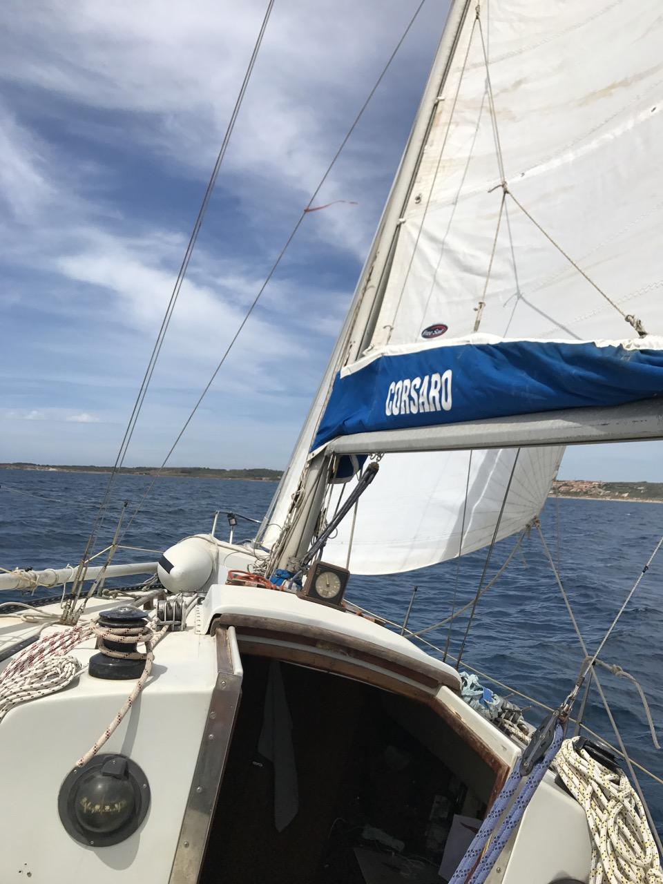 Mein Boot im Golfo di Oristano
